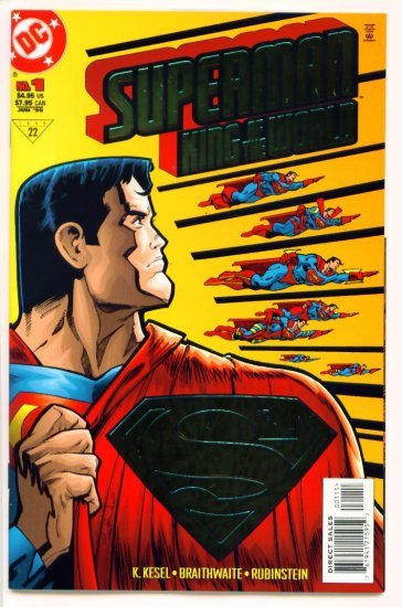 SUPERMAN KING OF THE WORLD #1 DC Comics 1999 Gold Foil Cover