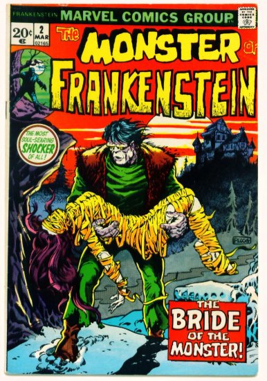 * THE MONSTER OF FRANKENSTEIN #2 Marvel Comics 1973  Mike Ploog art