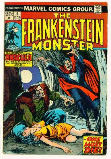 THE MONSTER OF FRANKENSTEIN #9 Marvel Comics 1974  Dracula