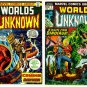 WORLDS UNKNOWN #1 and #2 Marvel Comics 1973 Horror Lot
