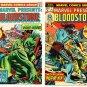 BLOODSTONE Marvel Presents #1 and #2 Marvel Comics 1975 Monster Hunter