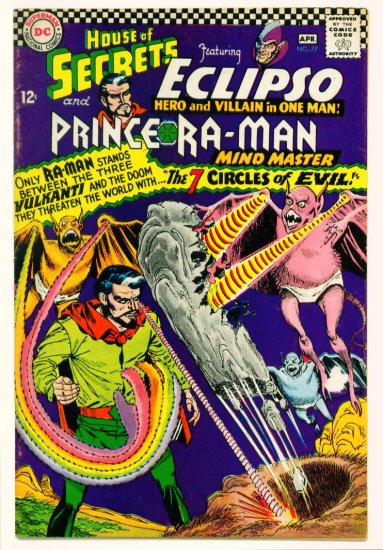 HOUSE of SECRETS #77 DC Comics 1966 Eclipso Ra-Man