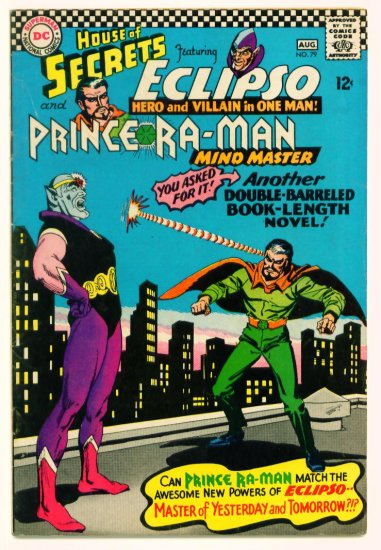 HOUSE of SECRETS #79 DC Comics 1966 Eclipso Ra-Man