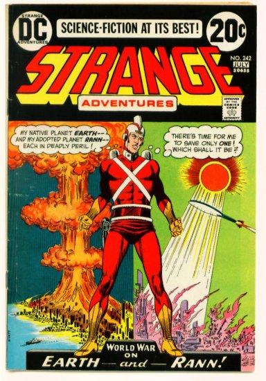 STRANGE ADVENTURES #242 DC Comics 1973 Atom Bomb Cover
