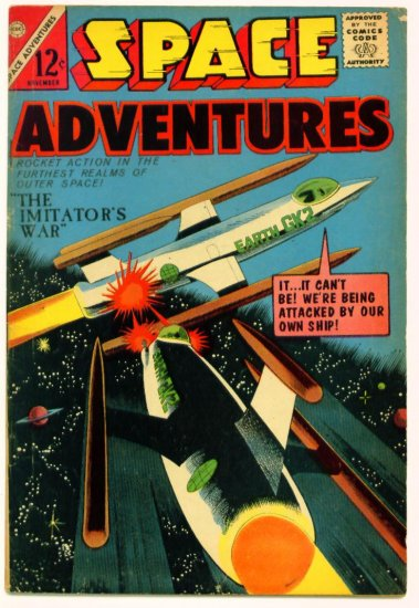 SPACE ADVENTURES #59 Charlton Comics 1964 LAST ISSUE V1