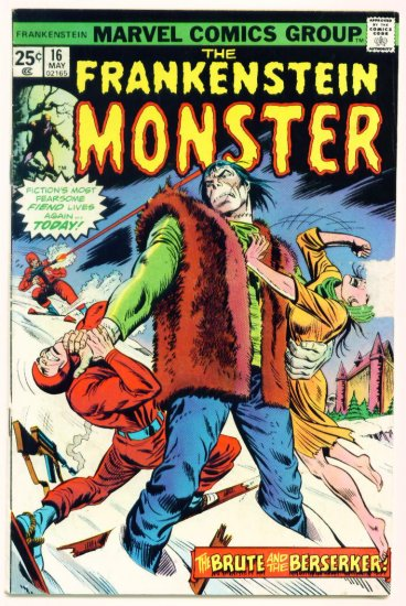 THE MONSTER OF FRANKENSTEIN #16 Marvel Comics 1975