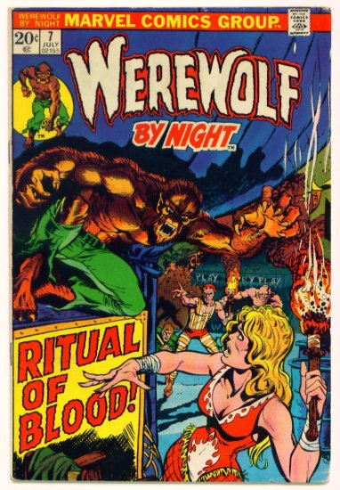 WEREWOLF By Night #7 Marvel Comics 1973 Mike Ploog