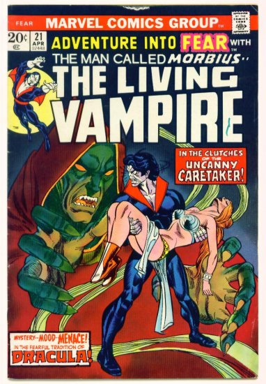 MORBIUS the VAMPRIE  ADVENTURE INTO FEAR #21 Marvel Comics 1974