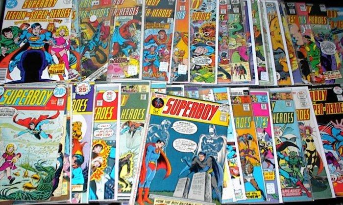 SUPERBOY Lot 39 DC Comics #182 - #257 1972 - 79 Legion of Superheroes