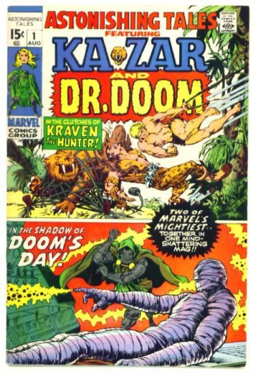 ASTONISHING TALES #1 Marvel Comics 1970 Doctor Doom FINE