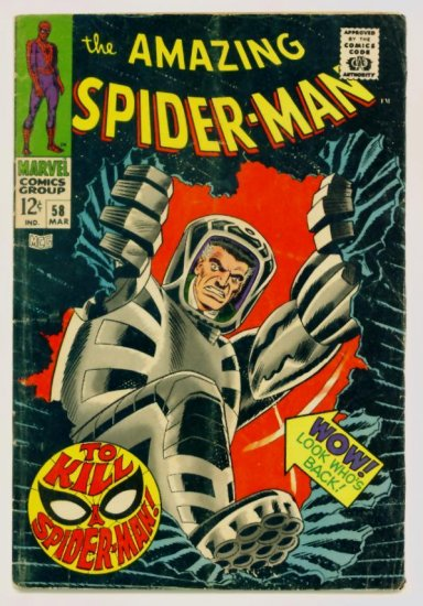 AMAZING SPIDER-MAN #58 Marvel Comics 1968