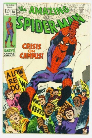 AMAZING SPIDER-MAN #68 Marvel Comics 1969