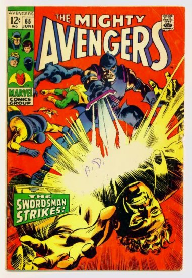 The AVENGERS #65 Marvel Comics 1969