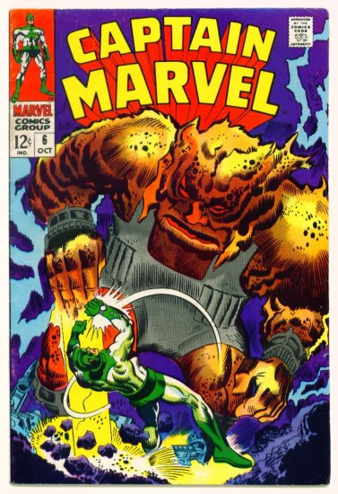 CAPTAIN MARVEL #6 Marvel Comics 1968 Mar-Vell