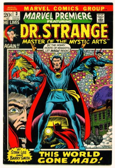 DOCTOR STRANGE Marvel Premiere #3 (1972) Barry Smith