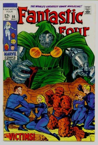 FANTASTIC FOUR #86 Marvel Comics 1969 DOCTOR DOOM