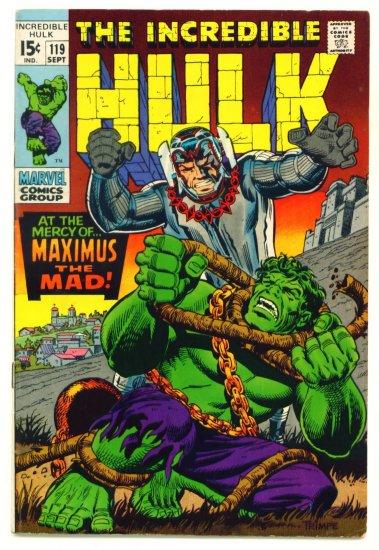 INCREDIBLE HULK #119 Marvel Comics 1969 VS Maximus