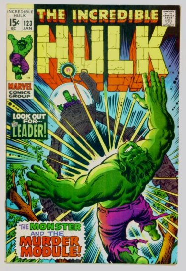 INCREDIBLE HULK #123 Marvel Comics 1970 FINE
