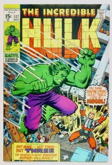 INCREDIBLE HULK #127 Marvel Comics 1970 FINE Mole Man