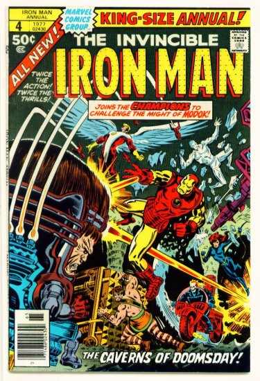 IRON MAN KING SIZE ANNUAL #4 Marvel Comics 1977