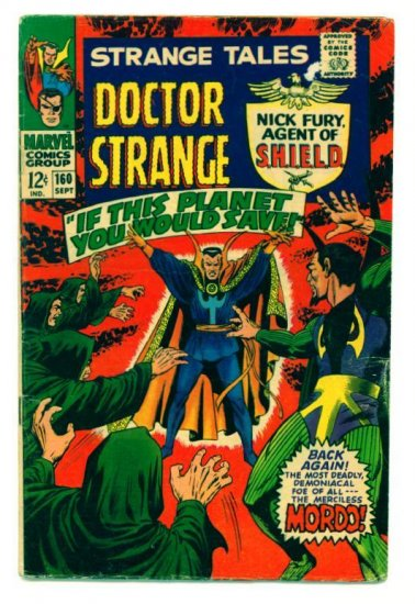 STRANGE TALES #160 Marvel Comics 1967 Steranko