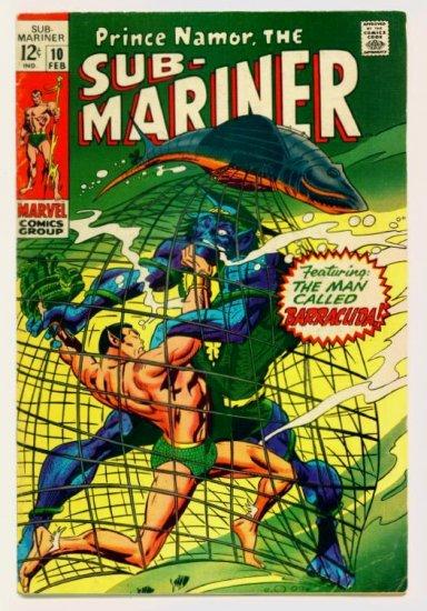 SUB-MARINER #10 Marvel Comics 1969 Origin Serpent Crown
