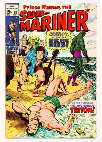 SUB-MARINER #18 Marvel Comics 1969 TRITON Inhumans