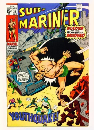 SUB-MARINER #28 Marvel Comics 1970