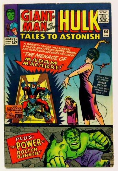TALES to ASTONISH #66 Marvel Comics 1965 GIANT MAN