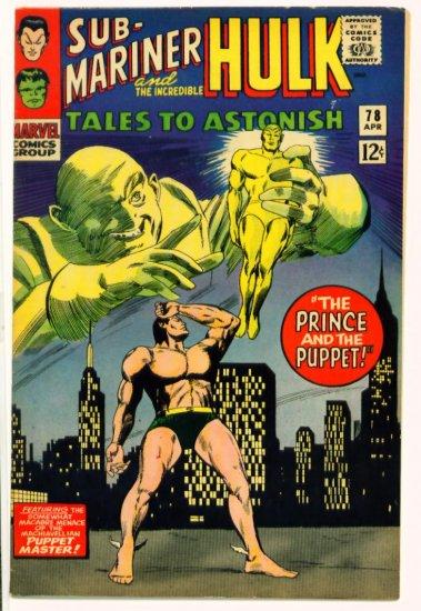 TALES to ASTONISH #78 Marvel Comics 1966 The Hulk