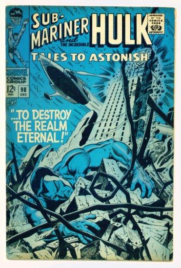 TALES to ASTONISH #98 Marvel Comics 1967 The Hulk