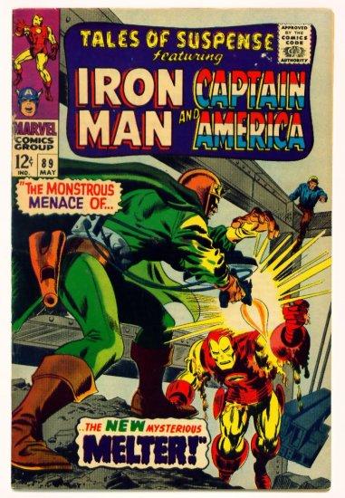 TALES of SUSPENSE #89 Marvel Comics 1967 IRON MAN CAPTAIN AMERICA