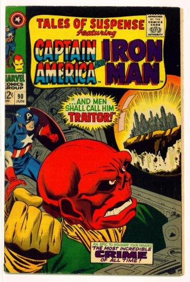 TALES of SUSPENSE #90 Marvel Comics 1967 IRON MAN CAPTAIN AMERICA