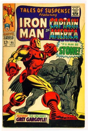 TALES of SUSPENSE #95 Marvel Comics 1967 IRON MAN CAPTAIN AMERICA