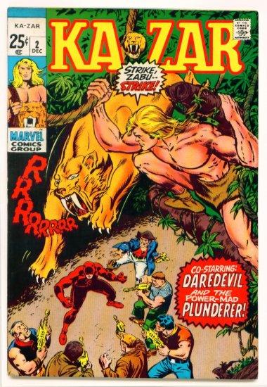 KA-ZAR #2 GIANT Marvel Comics 1970 X-Men and Daredevil