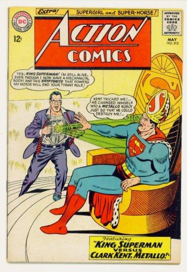 ACTION COMICS #312 DC 1964 Superman Supergirl Metallo
