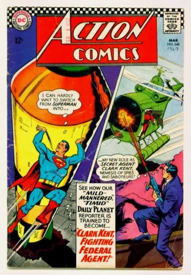 ACTION COMICS #348 DC 1967 Superman & Supergirl