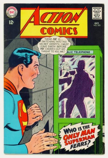 ACTION COMICS #355 DC 1967 Superman Supergirl