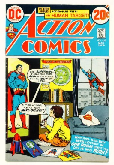 ACTION COMICS #422 DC 1973 Superman Human Target