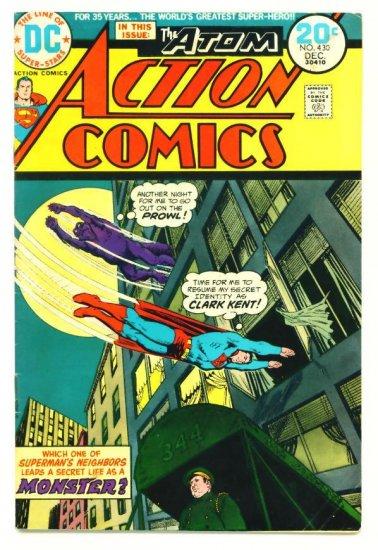 ACTION COMICS #430 DC 1973 Superman & The Atom
