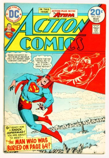 ACTION COMICS #433 DC 1974 Superman & The Atom