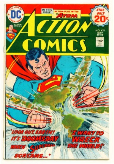 ACTION COMICS #435 DC 1974 Superman The Atom