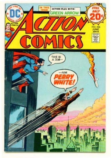 ACTION COMICS #436 DC 1974 Superman Green Arrow