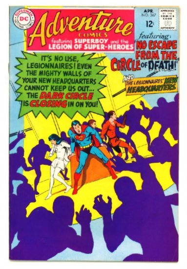 ADVENTURE COMICS #367 DC 1968 Legion of Super-Heroes
