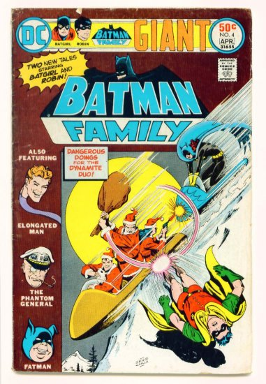BATGIRL BATMAN FAMILY #4 DC Comics 1976 GIANT