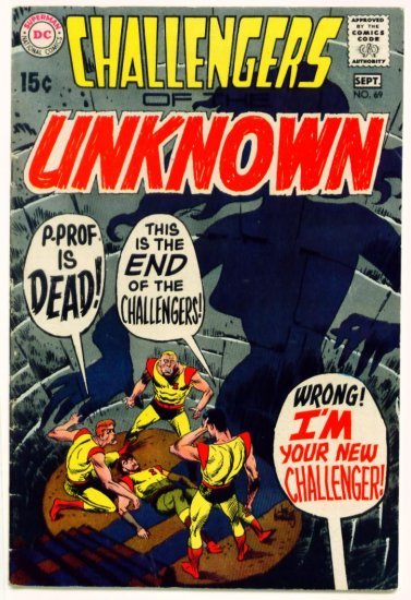 CHALLENGERS of the UNKNOWN #69 DC Comics 1969