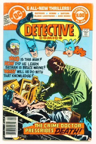 DETECTIVE COMICS #494 DC 1980 Batman Batgirl Dollar Giant