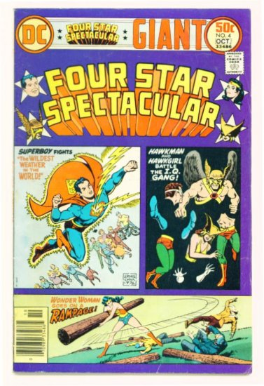 FOUR STAR SPECTACULAR #4 DC Comics 1976 Wonder Woman