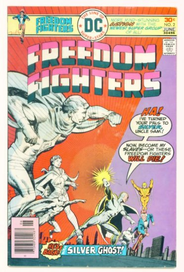 FREEDOM FIGHTERS #2 DC Comics 1976