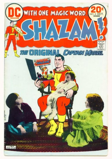 SHAZAM #6 DC Comics 1973 Captain Marvel INFINITY COVER